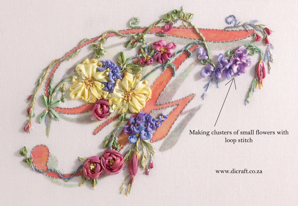 Making-small-clusters-of-flowers-with-loop-stitch