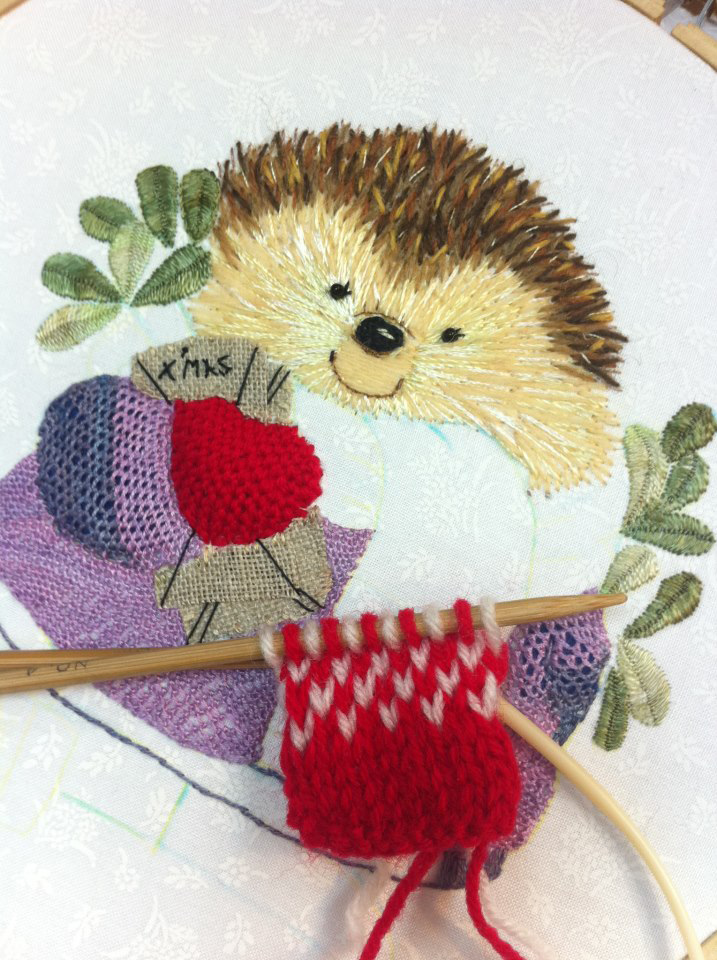 1 Happy Christmas hedgehog by Kwok Wing Sum (Happy)  from Hong Kong