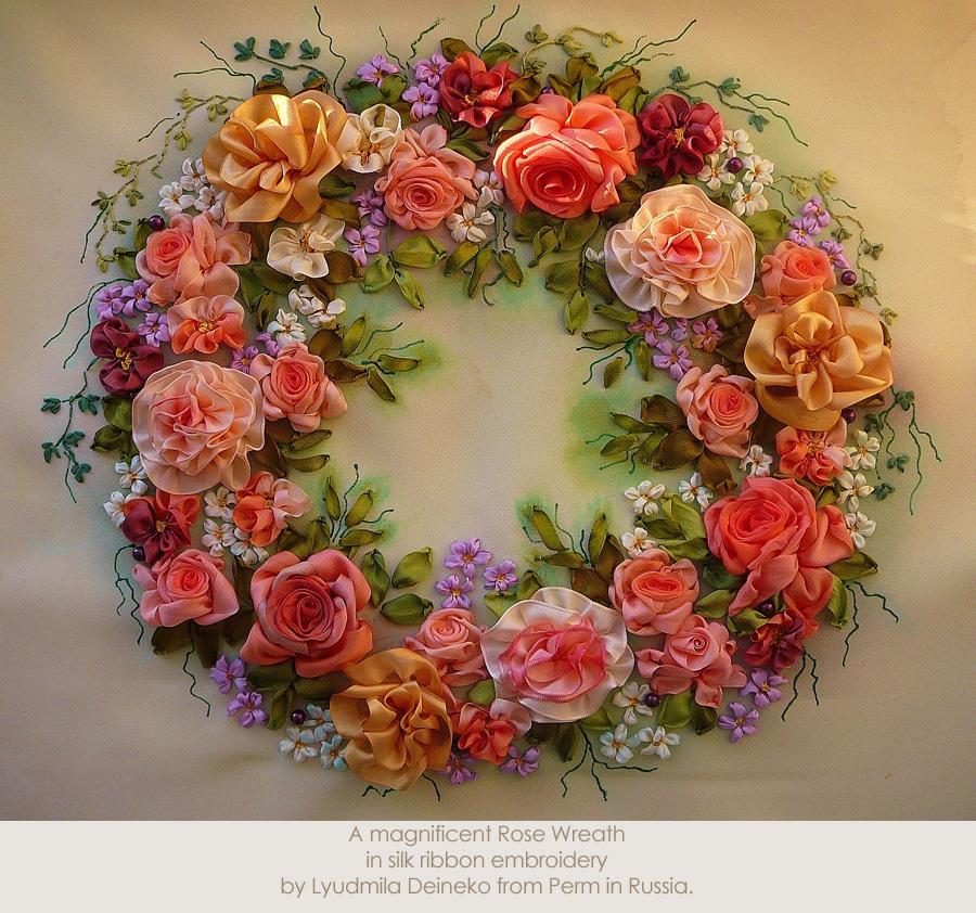1. A magnificent Rose Wreath by Lyudmila Deineko from Perm in Russia