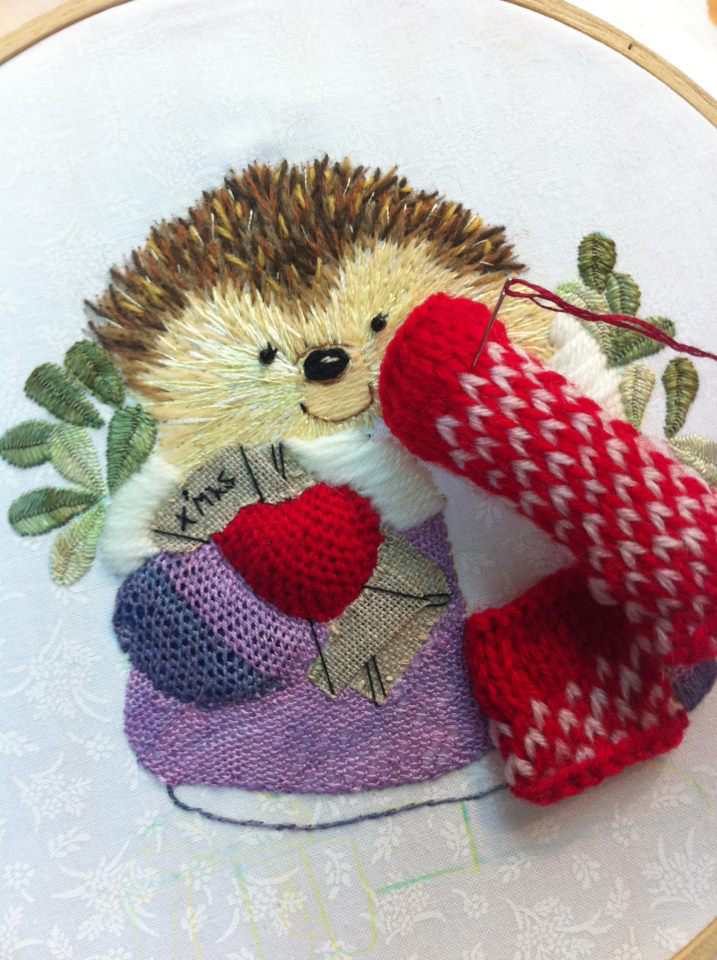2 Happy Christmas hedgehog