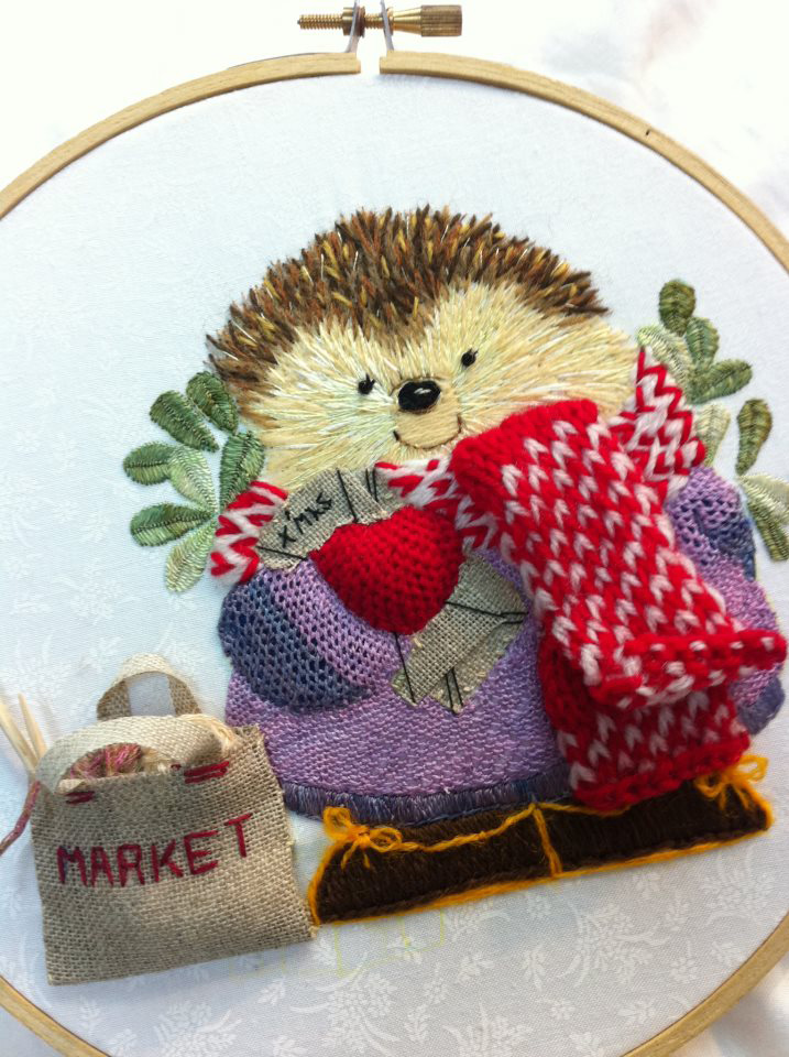 3 Happy Christmas hedgehog by Kwok Wing Sum (Happy)  from Hong Kong