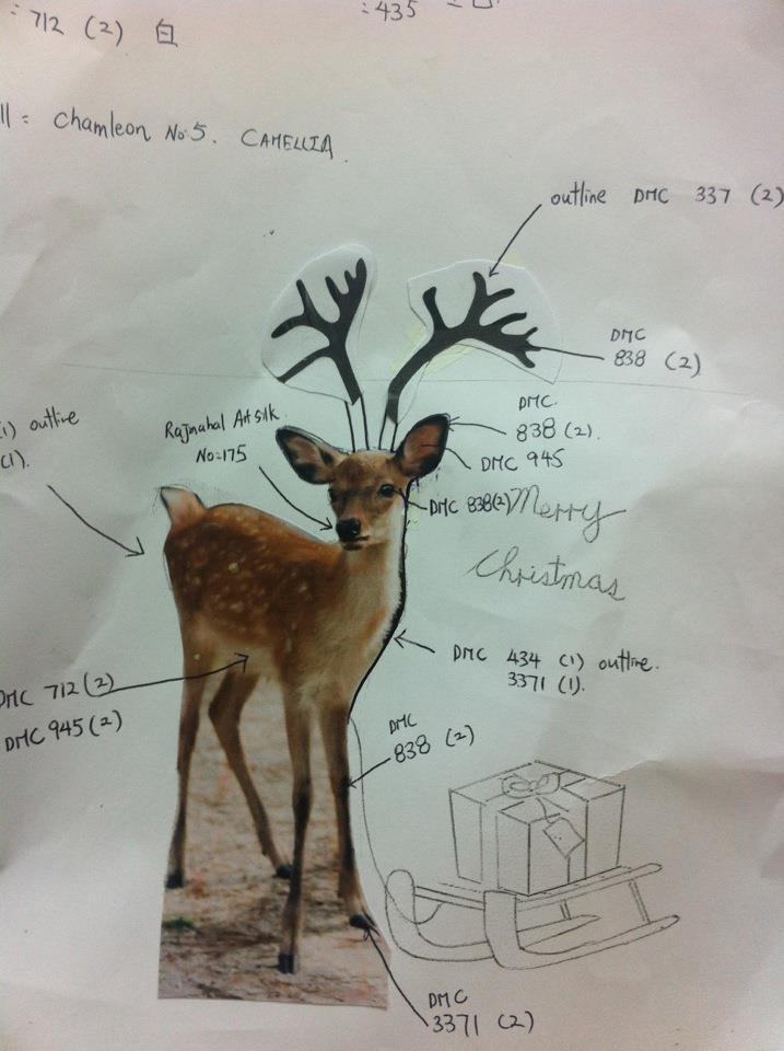 4 Christmas Deer by Kwok Wing Sum (Happy)