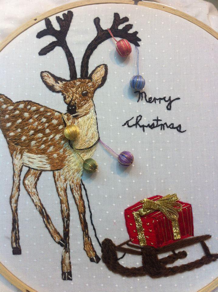 5 Christmas Deer by Kwok Wing Sum (Happy)
