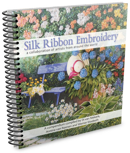Silk ribbon embroidery – a collaboration of artists from around the world. Search for eBook or look on the books page.