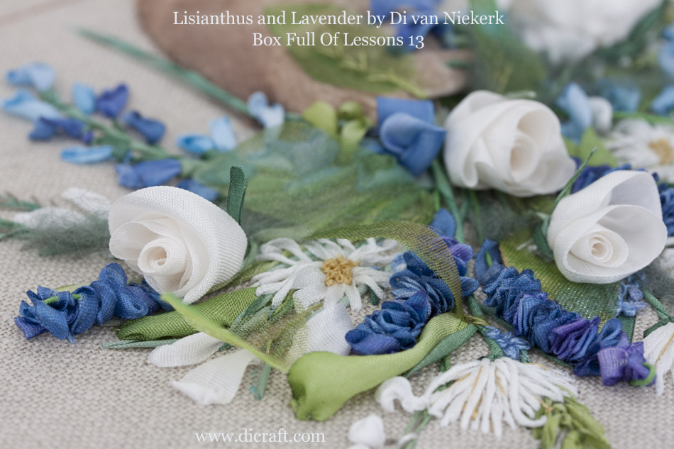 /'Rose and Lavender/' a crewel embroidery kit for beginners