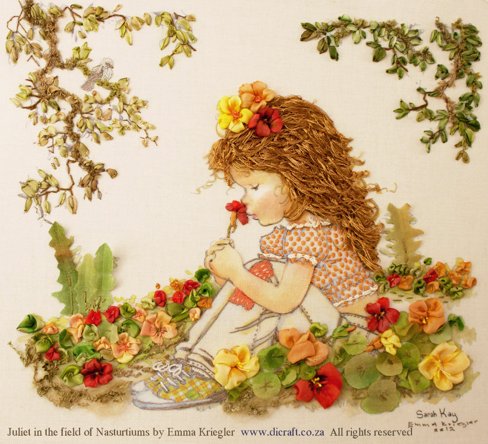 1-Juliet-in-Field-of-Nasturtiums-from-Sarah-Kay-range-Embroidered-by-Emma-Kriegler3