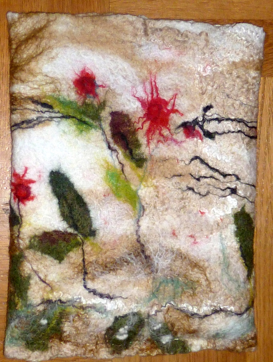 3 felted background  by Lena Thiel from Sweden