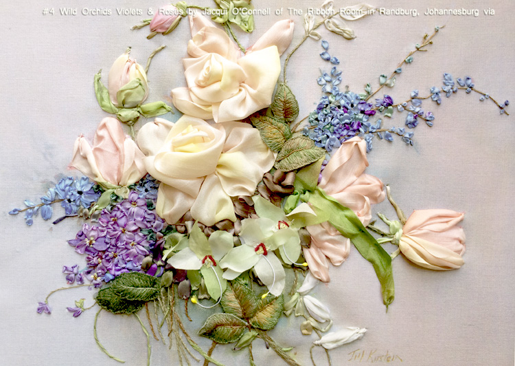 #4 Wild Orchids Violets & Roses by Jacqui O'Connell of The Ribbon Room in Randburg, Johannesburg