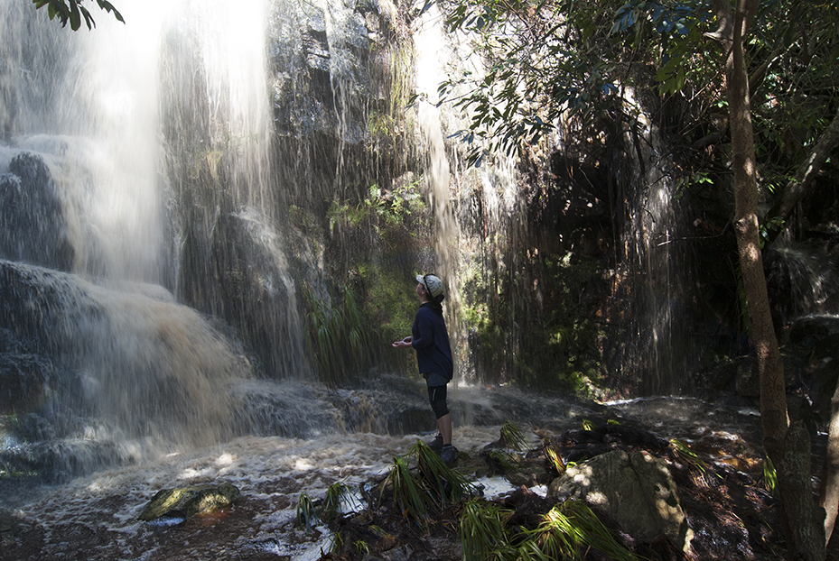 The waterfall at Silvermine on Sunday