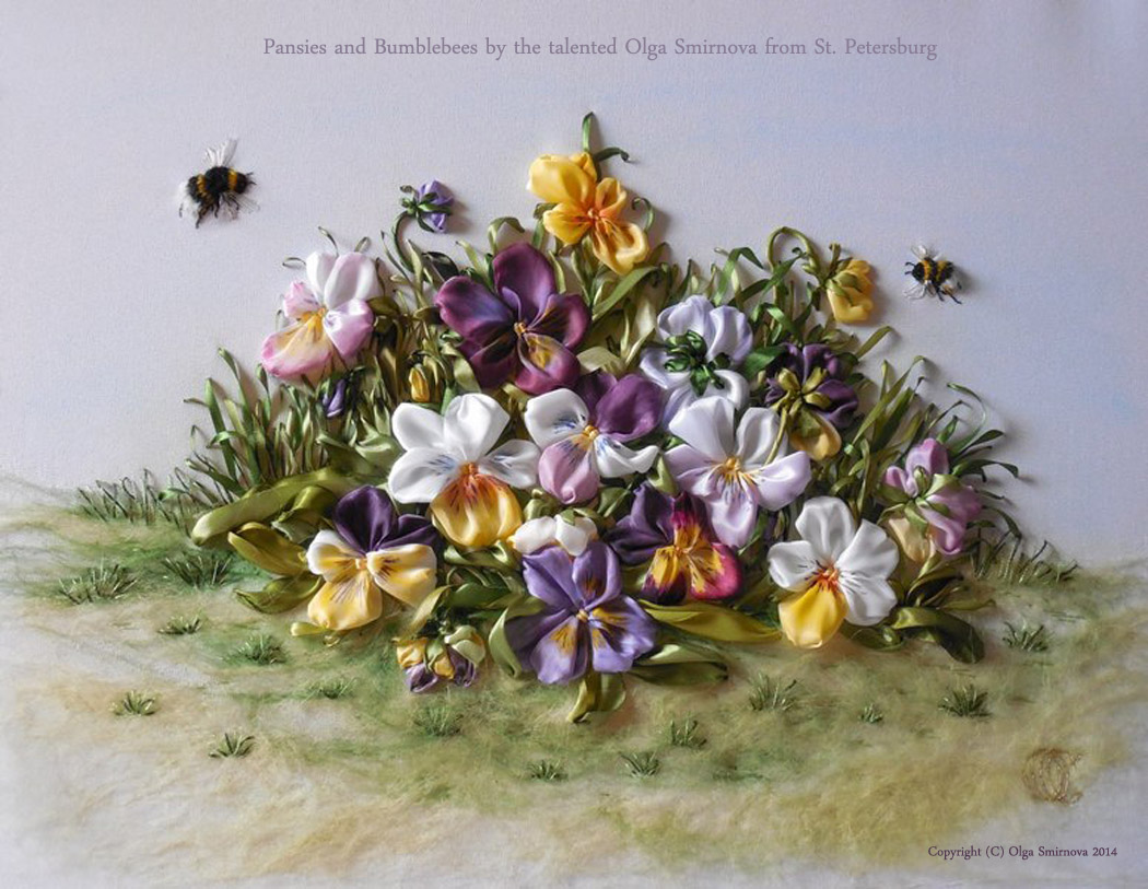 Pansies and Bumblebees by the talented Olga Smirnova from St