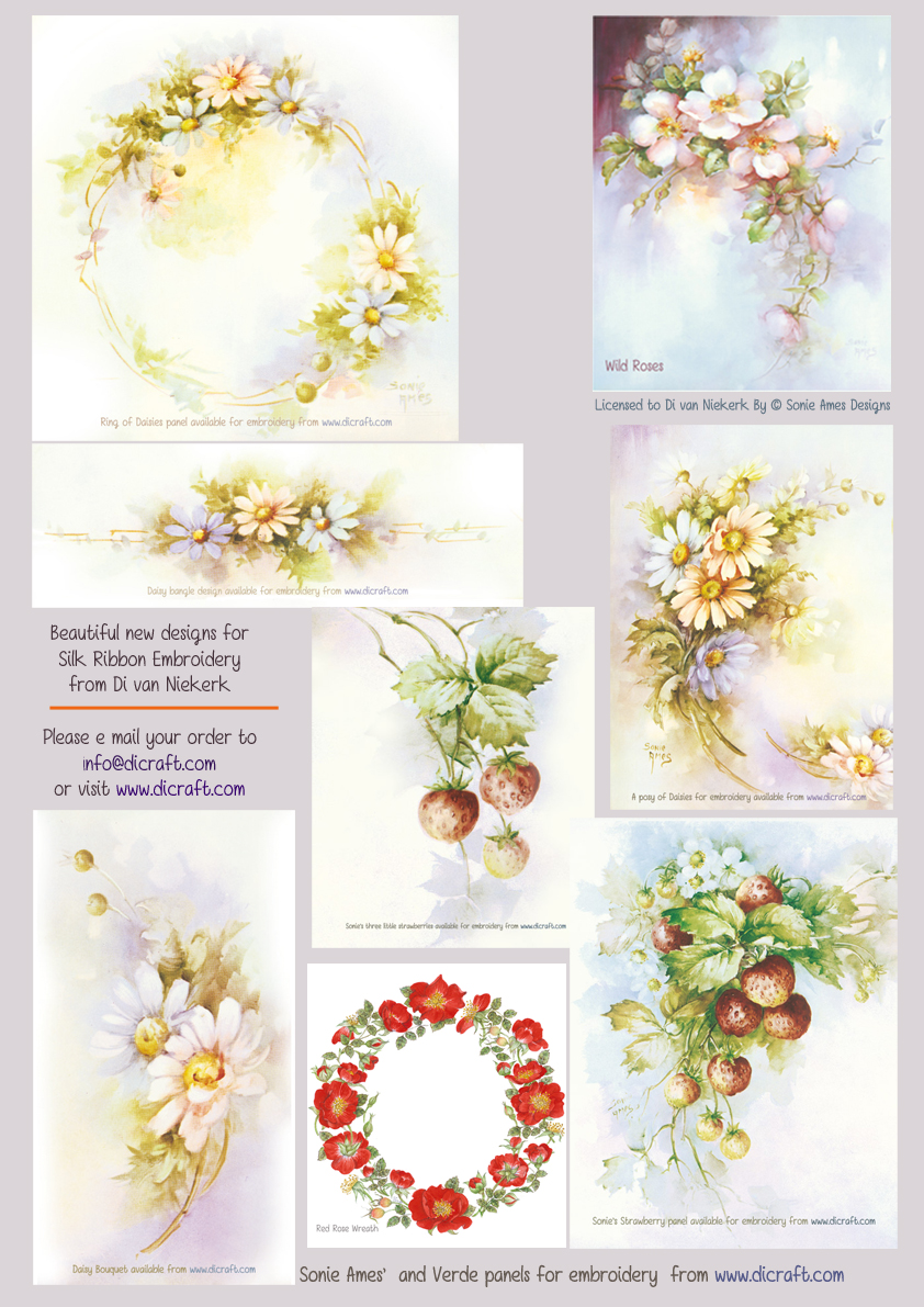 New designs for ribbon embroidery