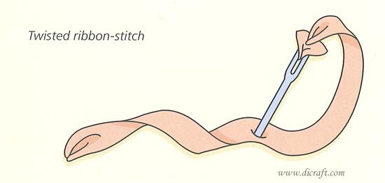Twisted ribbon stitch