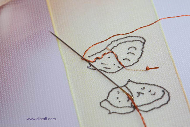 Fill in with back stitch