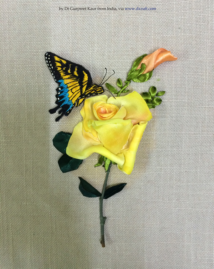 1- A Rose and a Butterfly by Dr Gurpreet Kaur from India
