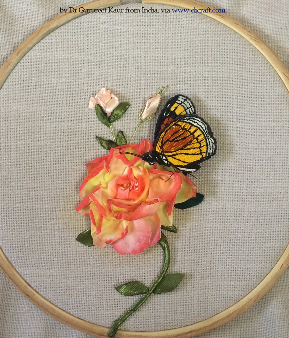2- A Rose and a Butterfly by Dr Gurpreet Kaur from India