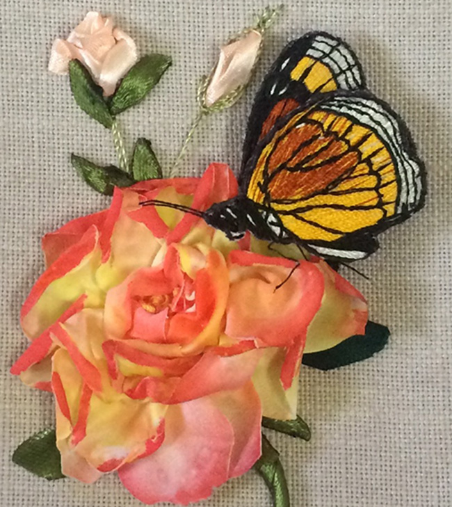 2B- A Rose and a Butterfly by Dr Gurpreet Kaur from India