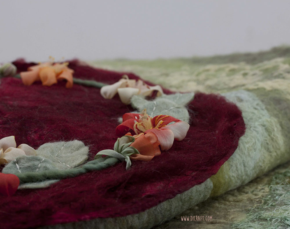 Nasturtiums on silk