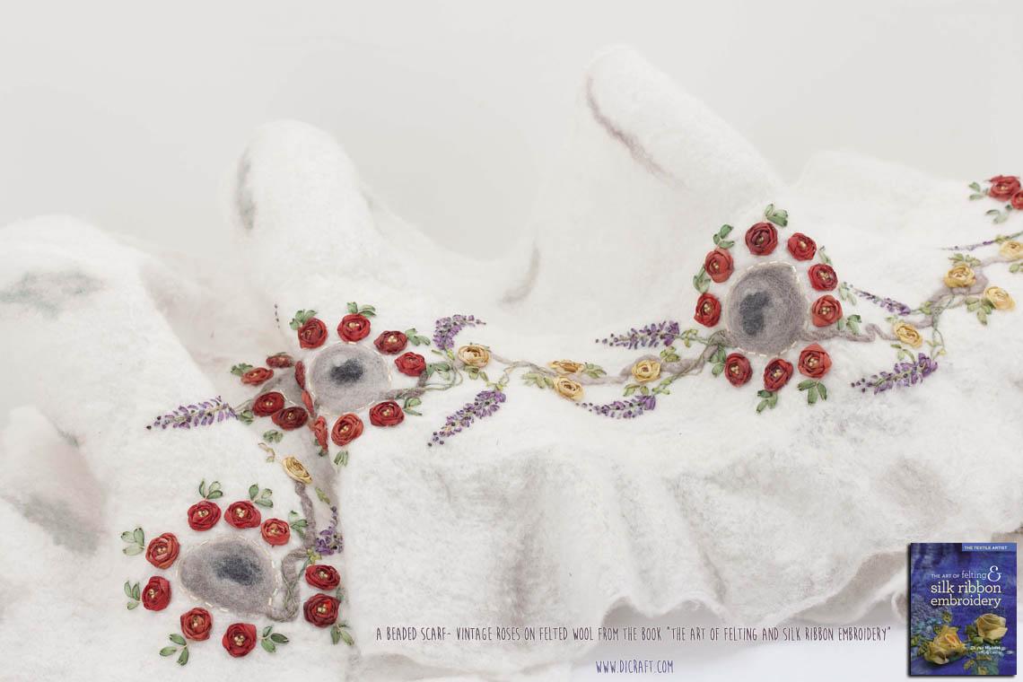 Beaded-Scarf-Vintage-Roses-on-Felted-Wool