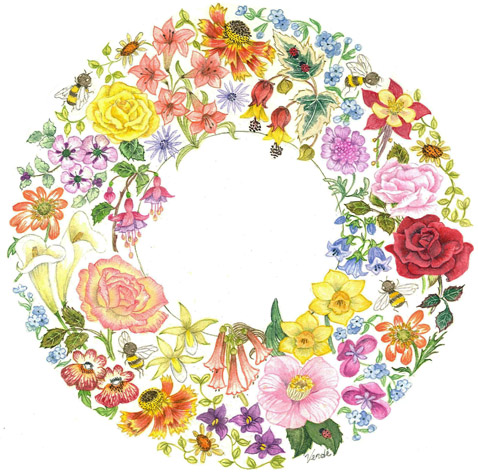 Spring Wreath Panel