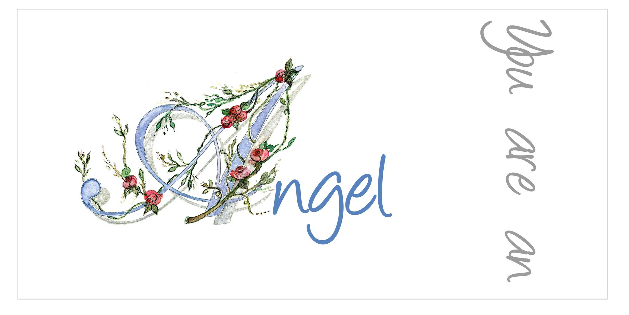 You are an angel card or gift tag