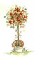 A free gift - Red Topiary Rose design