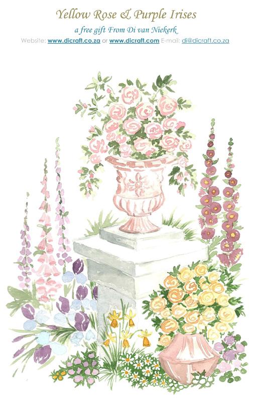 Free gift  - Yellow Rose and Purple Irises