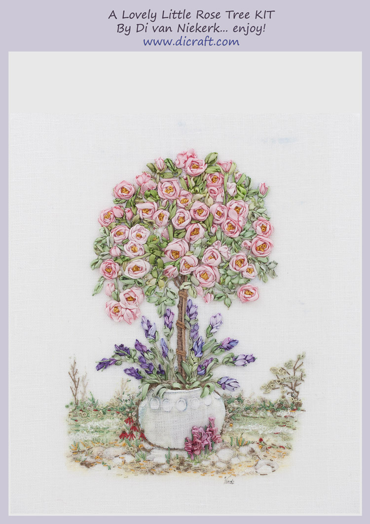 How to make a lovely little rose tree-line drawing